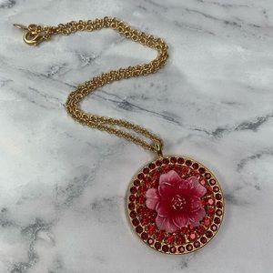 Tarina Tarantino Pink and Red Flower Pendant